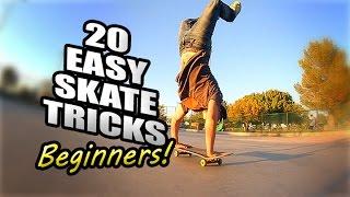 20 EASY SKATEBOARD TRICKS FOR BEGINNERS