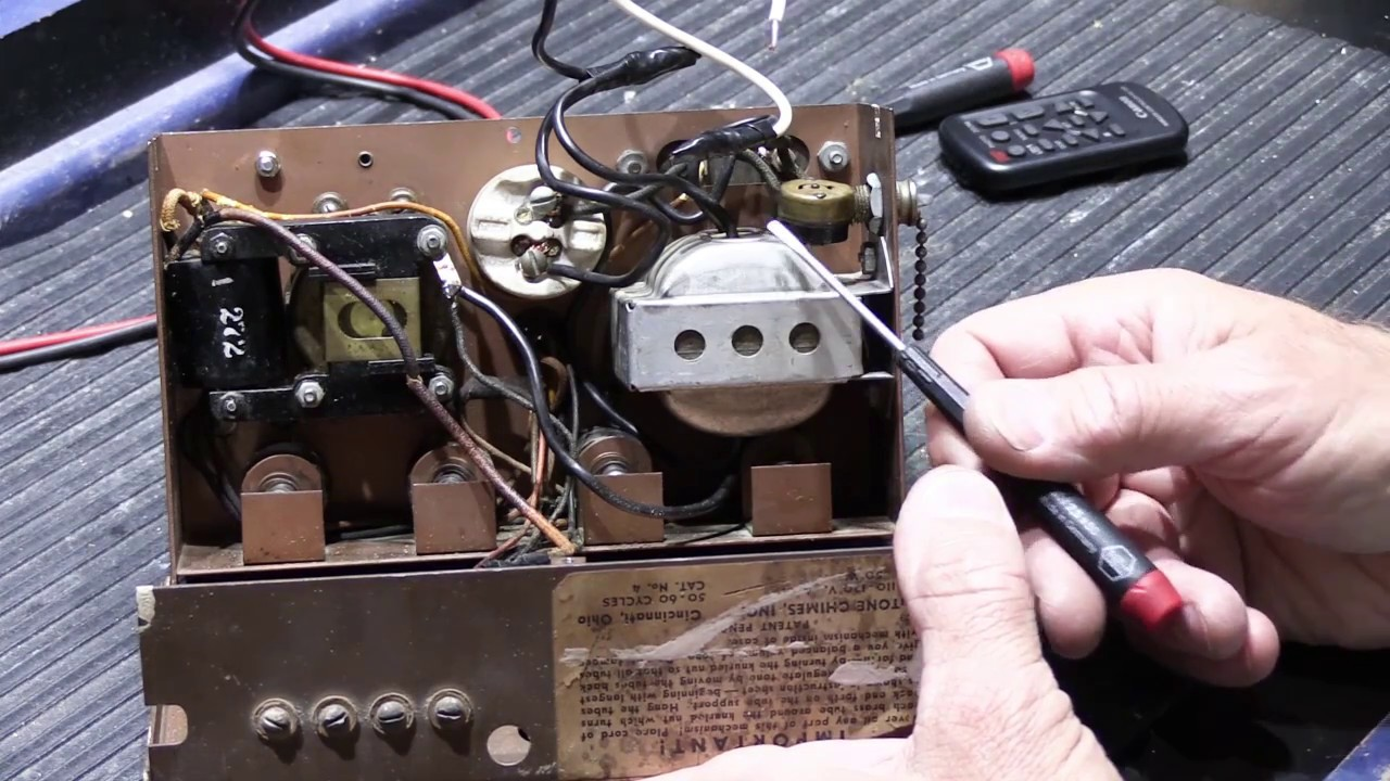 An Overview Of A 1939 Nutone 8 Note Door Chime Base Youtube Wiring For Doorbell
