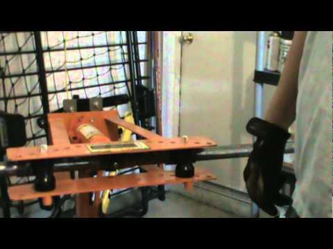 Harbor Freight pipe bender modified for bending tube