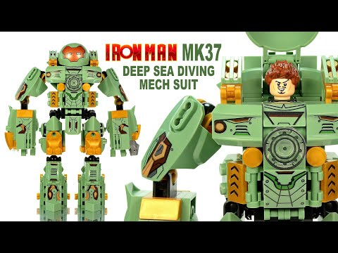 Iron Man MK 37 Deep Sea Diving Mechanical Suit aka Hammerhead LEGO KnockOff Set