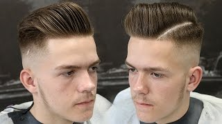 HOW TO SKIN FADE FOR BEGINNERS || SKIN FADE POMPADOUR HAIRCUT TUTORIAL