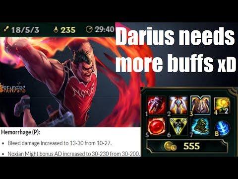Dunk - DARIUS GOT BUFFED (2 QUADRAKILLS)