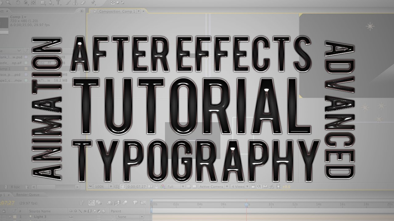 typography text animation after effects youtube