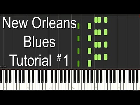 New Orleans Blues Piano Tutorial - No 1 - Dr John, Professor Longhair Blues