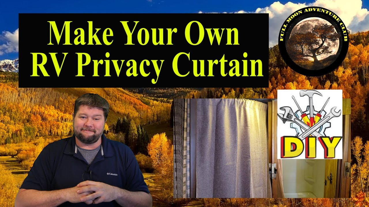 add a privacy curtain to your rv rv living hack