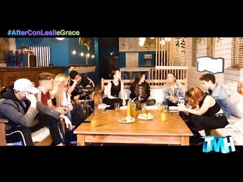 After: Leslie Grace en un encuentro al en Argentina