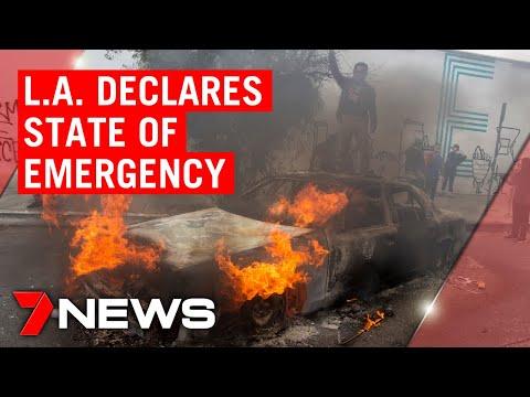 American riots update: Los Angeles declares state of emergency | 7NEWS