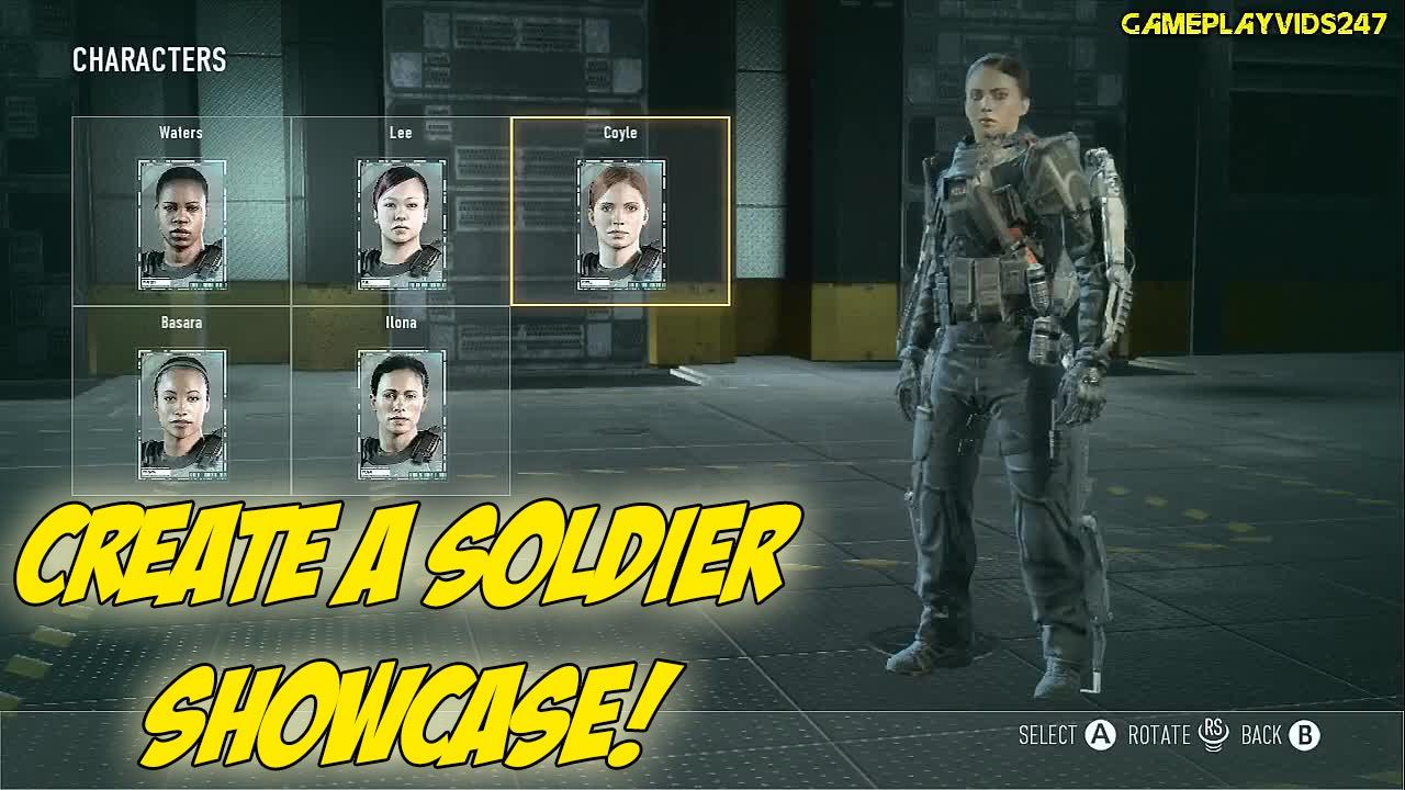 Call Of Duty Advanced Warfare Create A Soldier Showoff