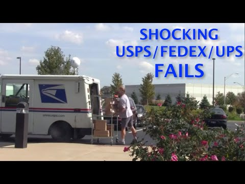 Most Shocking USPS/FedEx/UPS Delivery Fails 2014