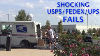Most Shocking USPS/FedEx/UPS Delivery Fails 2014(USPS, UPS, FedEx worst employees. Throwing packages, breaking items, and crashing their trucks. http://theREFUEL.com., 2014-10-27T23:49:33.000Z)