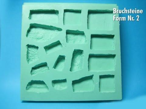 silikonform nr 2 bruchsteine selber gie en youtube. Black Bedroom Furniture Sets. Home Design Ideas