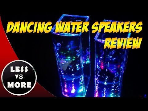 Thumbnail for LED Dancing Water Speakers Review ♫ Cool Party Speakers ♫