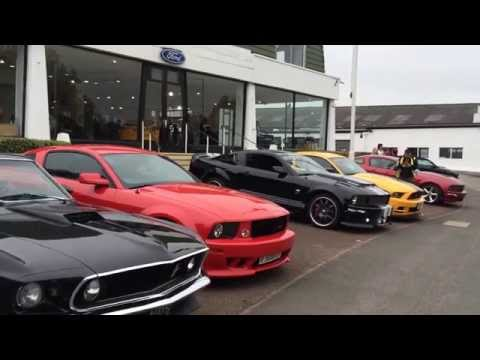 Kent Mustang Owners Club leaving the event...