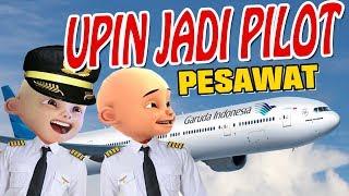 Upin ipin jadi Pilot Pesawat garuda Indonesia Gta Lucu