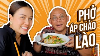 Food For Good #458: Phở áp chảo Lào bánh phở to như bánh ướt !