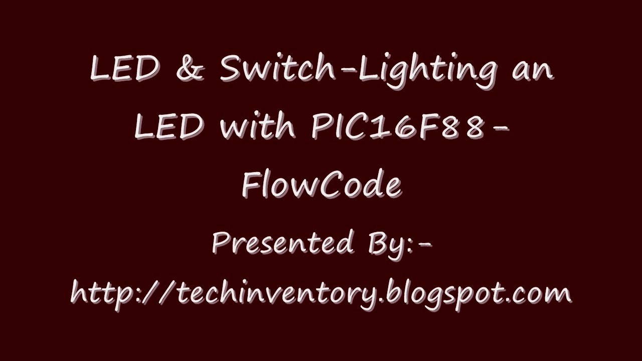 Led switch lighting an led with pic16f88 flowcode youtube led switch lighting an led with pic16f88 flowcode ccuart Gallery