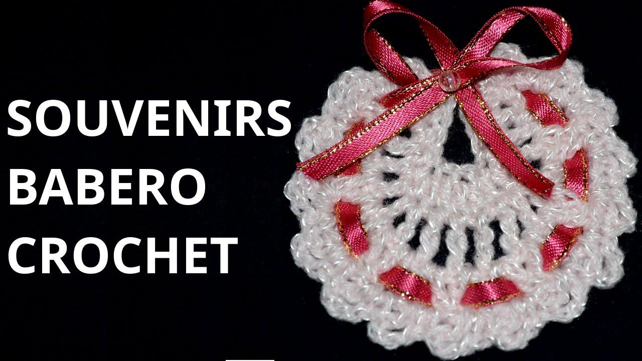 SOUVENIRS Modelo Babero en tejido #crochet o ganchillo tutorial paso ...