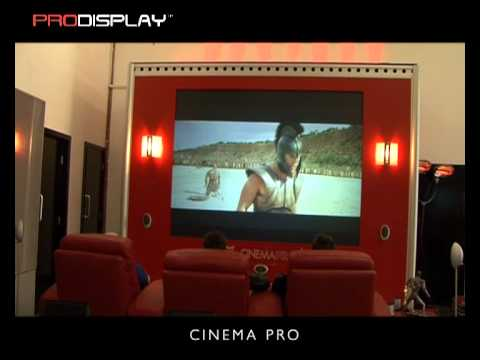 Home cinema back projection