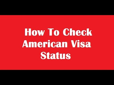 how to check american visa status online