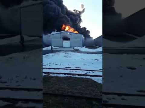Пожар на складе ГСМ Сехов, Сергеево 25.03.2019