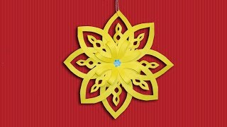 Make Paper Snowflakes Out of Color Paper - DIY Christmas Crafts [Decoration] Ideas thumbnail