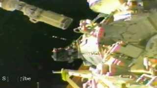 Инопланетяне возле МКС(Неизвесное науке тело похожее на медузу, шевеля отростками типа плавников, проплыло в космосе рядом с Между..., 2014-01-17T16:09:23.000Z)