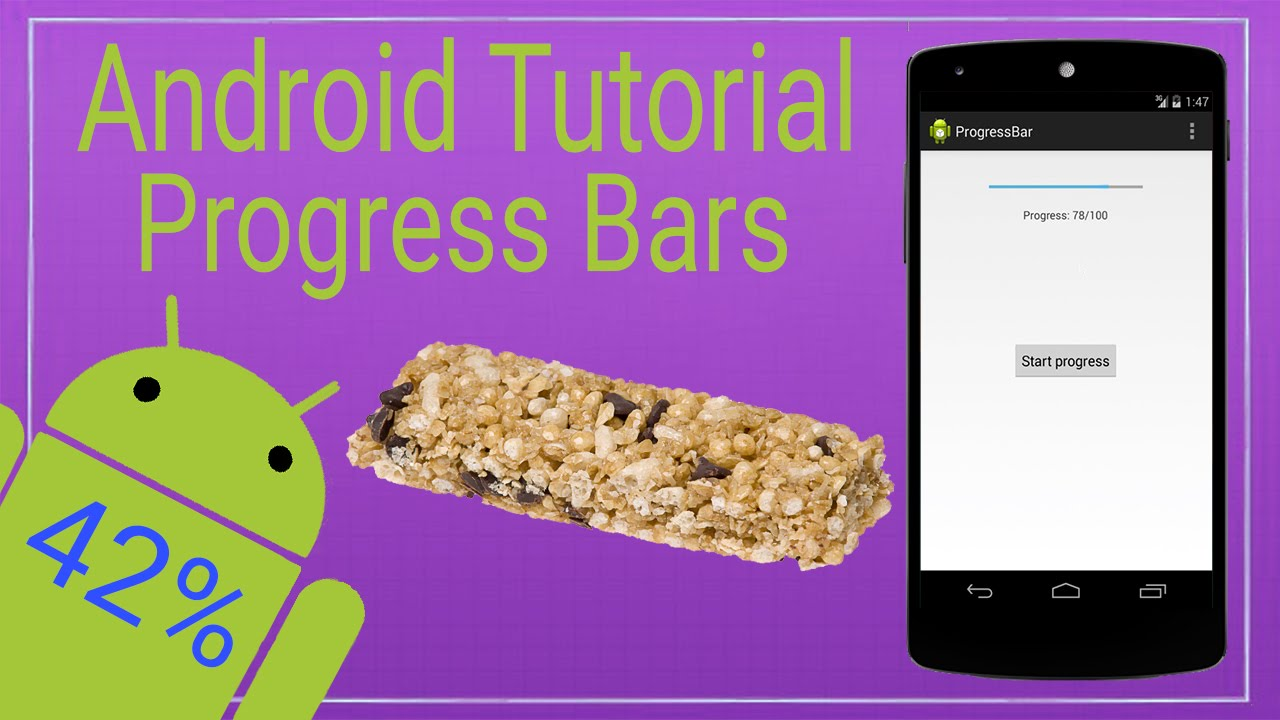 Android Tutorial 3 - How to Use Progress Bars