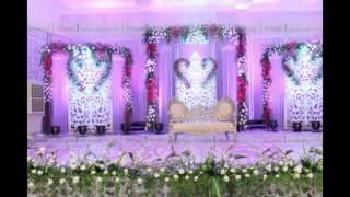 Madurai Decorators Cheery Blossom Pink Theme Wedding Stage Decoration