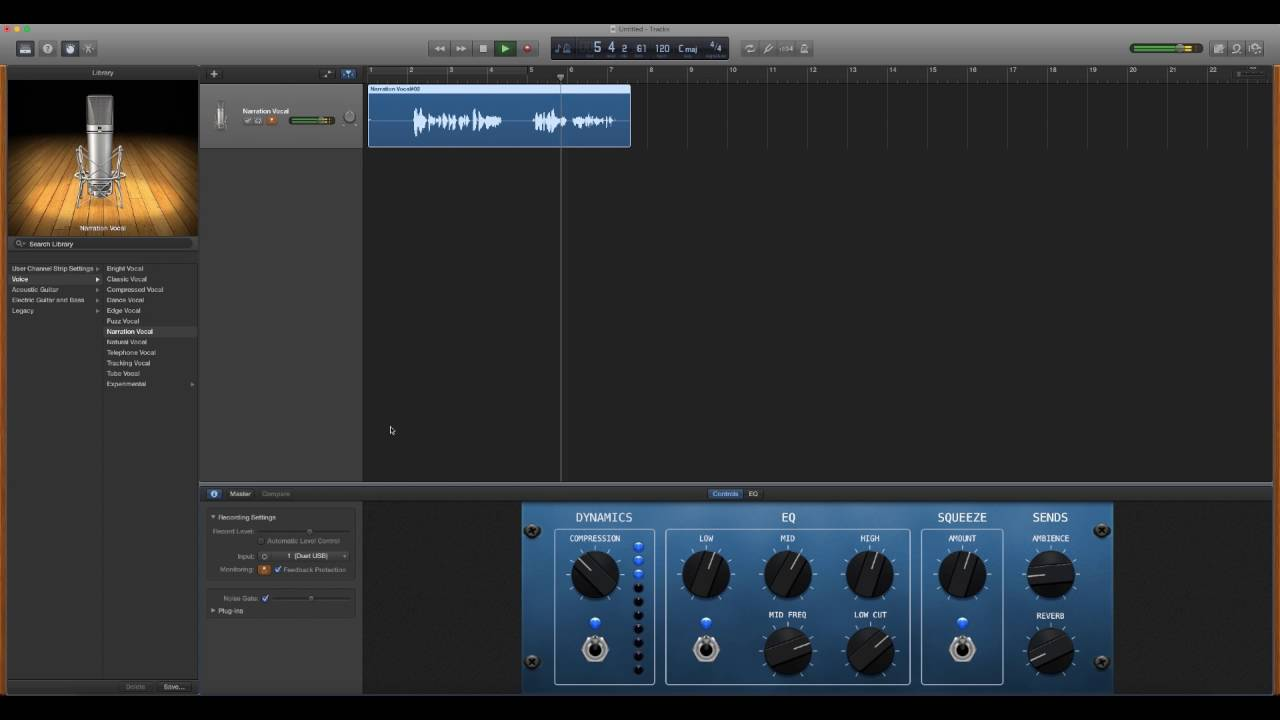 Remove Noise and Hiss from your Podcast in Garageband