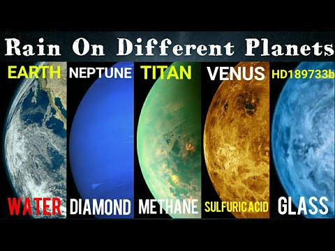 Horrible Rains On Other Planets Of Our Universe