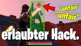 I use allowed AIMBOT HACK in Fortnite . . . 🏹⛔️