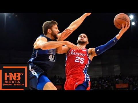 Dallas Mavericks vs Philadelphia Sixers 1st Half Highlights   10.08.2018, NBA Preseason