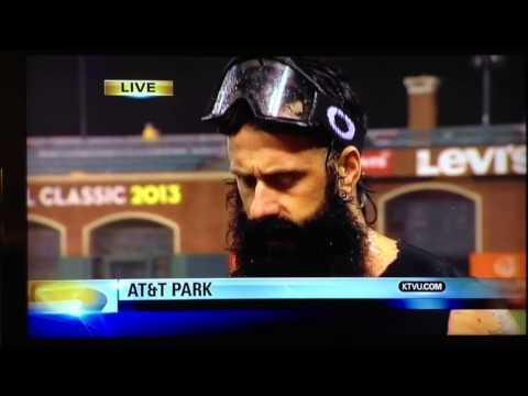 Brian Wilson (aka The Beard) interview after San Francisco Giants win 2012 NL pennant