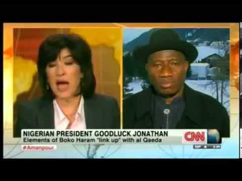 Nigeria President Goodluck Jonathan on cnn Amanpour