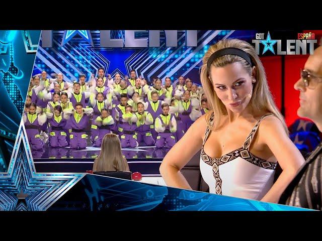 La ACTUACIÓN GRUPAL con 43 personas que DIVIDE al jurado   Audiciones 6   Got Talent España 2021