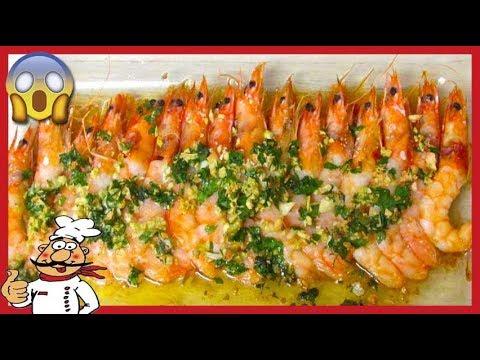 Langostinos al horno con ajo y perejil recetas de cocina for Langostinos al horno