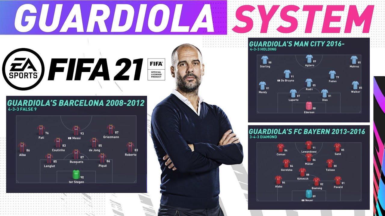 FIFA 21 CUSTOM TACTICS: GUARDIOLA'S SYSTEM | BARCELONA | BAYERN MUNICH
