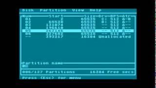 SIDE FDISK Editing Named Hard Disk Partitions
