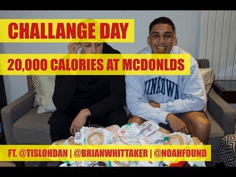 20,000 Calorie Mcdonald's Challenge