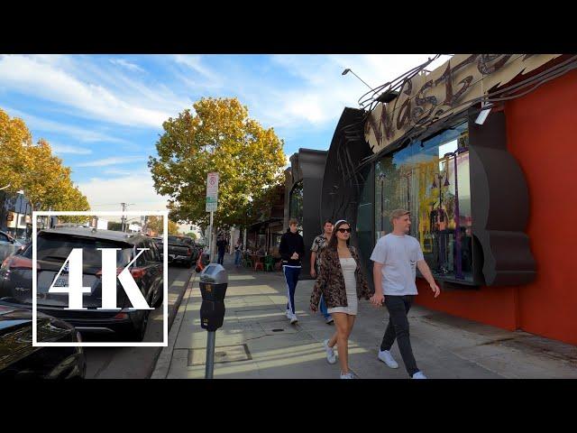 Melrose Ave. Los Angeles California 4K Walking Tour 📽 3D Binaural Sound 🎧