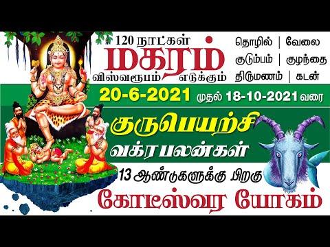 மகரம் குரு வக்ர பெயர்ச்சி பலன்கள் - 2021   Magaram Guru Vakra Peyarchi Palangal - 2021