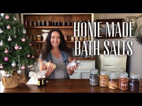 HOME MADE BATH SALTS - How to Use what you Grow - Make Bathsalts