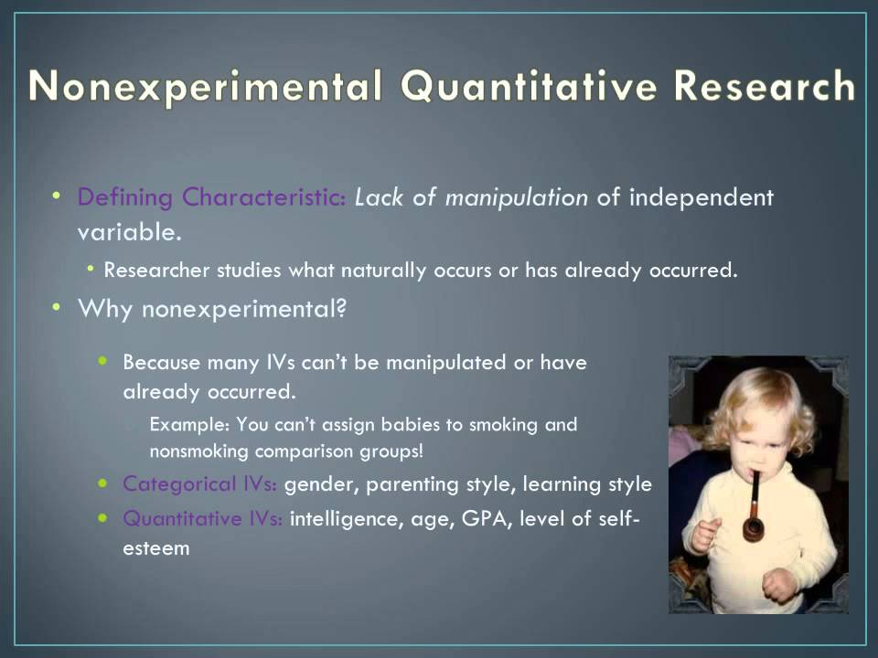 Types Of Nonexperimental Research Types Of Experimental