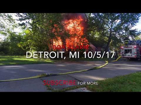 Detroit Fire Department (Drone View) Box Alarm 10-5-17 Wilfred x Chalmers