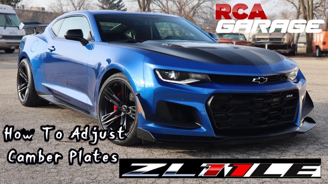 How to adjust ZL1 1LE camber plates - YouTube