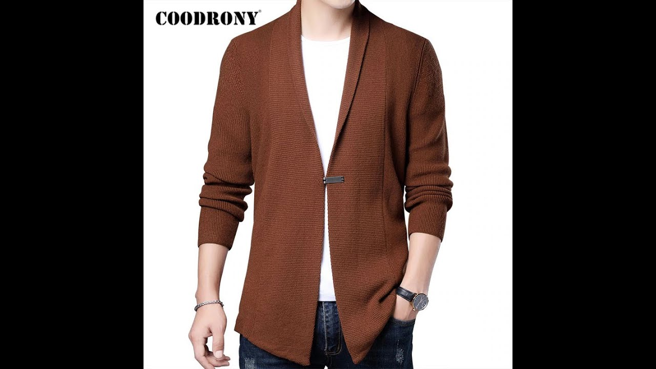 Coodrony бренд кардиган мужская одежда 2021 осень зима уличная мода свитер мужской толстый теплый