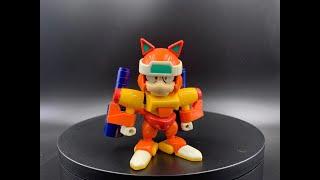 1990年Bandai 元祖功夫貓黨/忍者貓拼裝模型04號哥頓.
