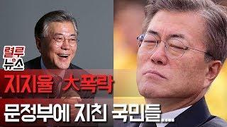 [렬루뉴스] 지지율 대폭락! 文정부에 지친 국민들