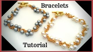 How to make beads bracelets. Bracelet making.  Beading tutorial.