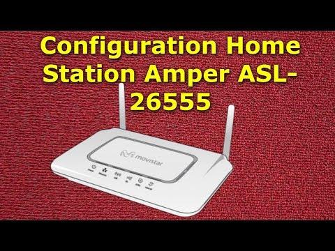EP-01 Setup Router Home Station Amper ASL 26555 as adsl   Amper ASL 26555 إعداد راوتر